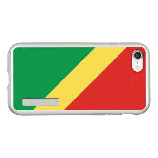 Flag of the Congo Republic Silver iPhone Case