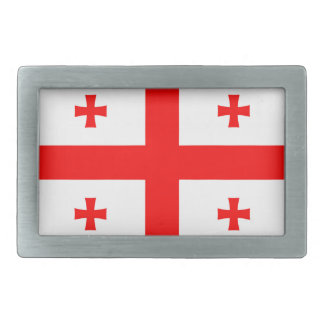 Flag Of The Country Of Georgia Rectangular Belt Buckles