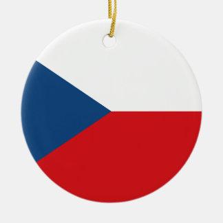 Flag of the Czech Republic - Česká vlajka Ceramic Ornament