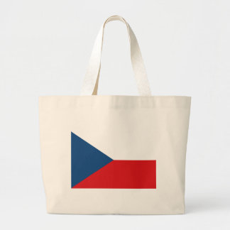Flag_of_the_Czech_Republic Large Tote Bag