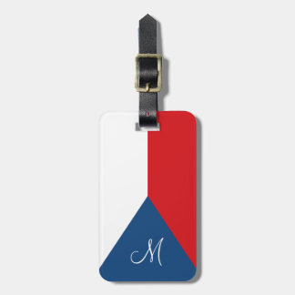 Flag of the Czech Republic Monogrammed Luggage Tag