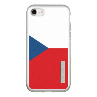 Flag of the Czech Republic Silver iPhone Case