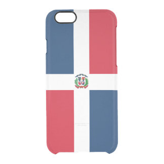 Flag of the Dominican Republic Clear iPhone Case