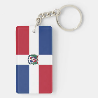 Flag of the Dominican Republic Double-Sided Rectangular Acrylic Key Ring