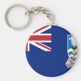 Flag of the Falkland Islands - Union Jack Basic Round Button Key Ring