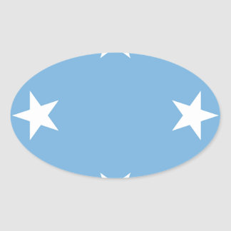 Flag of the Federated States of Micronesia Oval Sticker