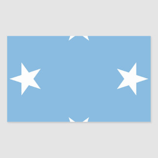 Flag of the Federated States of Micronesia Rectangular Sticker