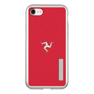 Flag of the Isle of Man Silver iPhone Case