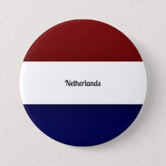 Flag of the Netherlands 7.5 Cm Round Badge