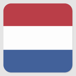 Flag of the Netherlands Square Sticker