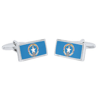 Flag of the Northern Mariana Is. Cufflinks Silver Finish Cufflinks