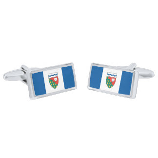 Flag of the Northwest Territories Cufflinks Silver Finish Cufflinks