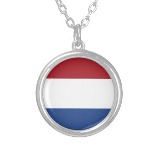 Flag of the of the Netherlands Silver Plated Necklace