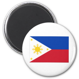 Flag of the Philippines 6 Cm Round Magnet