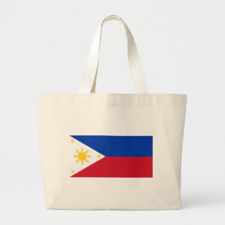Flag_of_the_Philippines Large Tote Bag