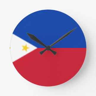 Flag_of_the_Philippines Round Clock
