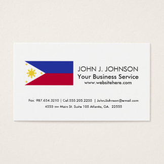 Flag of the Phillipines Business Card