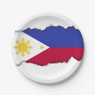 Flag of the Phillipines Paper Plate