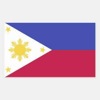 Flag of the Phillipines Rectangular Sticker