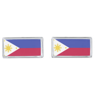 Flag of the Phillipines Silver Finish Cuff Links