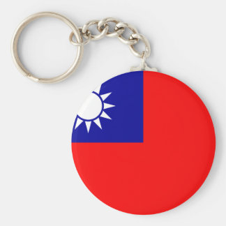 Flag of the Republic of China (Taiwan) - 中華民國國旗 Basic Round Button Key Ring