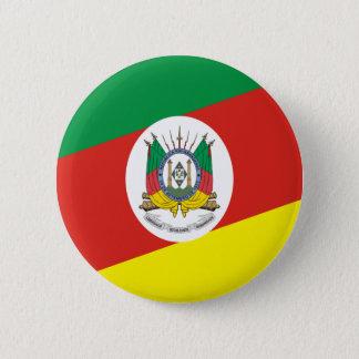 Flag of the Rio Grande Do Sul 6 Cm Round Badge