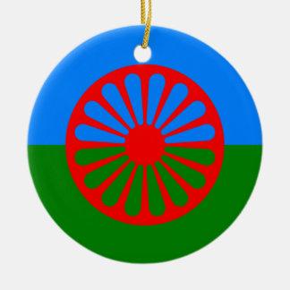 Flag of the Romani people - Romani flag Ceramic Ornament
