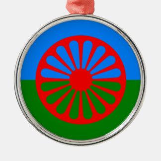 Flag of the Romani people - Romani flag Metal Ornament