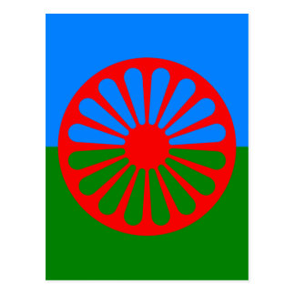 Flag of the Romani people - Romani flag Postcard