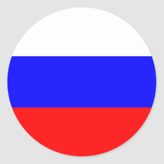 Flag of the Russian Federation Round Sticker