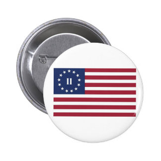 Flag  of the Second American Revolution 6 Cm Round Badge