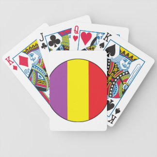 Flag of the Spanish Republic - Bandera Tricolor Bicycle Playing Cards