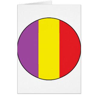 Flag of the Spanish Republic - Bandera Tricolor Card