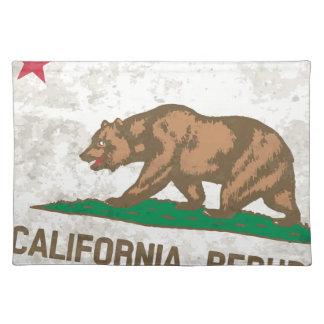 Flag of the State of California Grunge Placemat