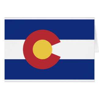 Flag of the State of Colorado Greeting Card