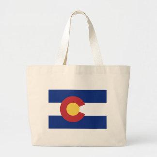 Flag of the State of Colorado Jumbo Tote Bag