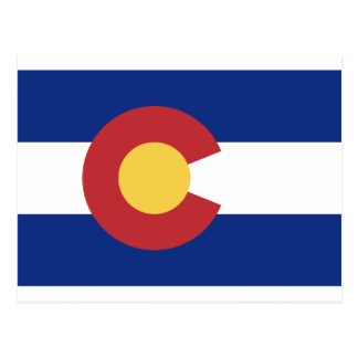 Flag of the State of Colorado Postcard