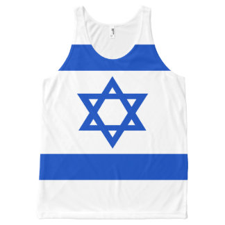 Flag of the State of Israel All-Over Print Singlet