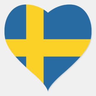 Flag of the Sweden Heart Sticker