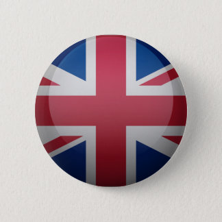 Flag of the United Kingdom 6 Cm Round Badge