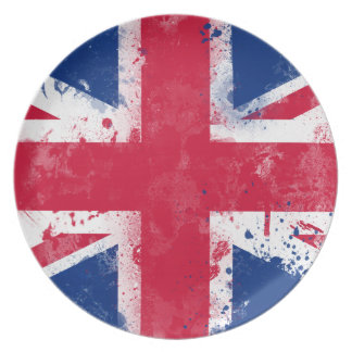 Flag of the United Kingdom or the Union Jack Dinner Plates