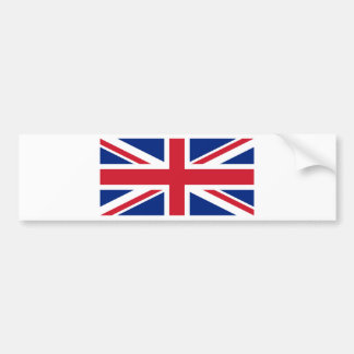 Flag of the United Kingdom (UK) aka Union Jack Bumper Sticker