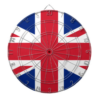 Flag of the United Kingdom (UK) aka Union Jack Dartboard