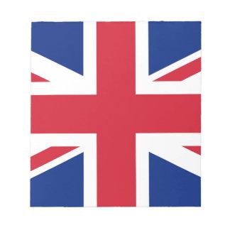 Flag of the United Kingdom (UK) aka Union Jack Notepad