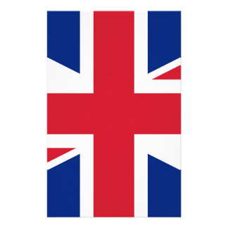 Flag of the United Kingdom (UK) aka Union Jack Stationery