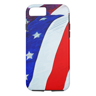 Flag of the United States Abstract Impressionism iPhone 7 Case