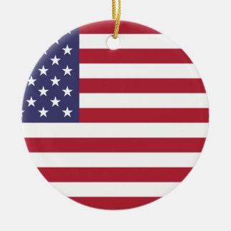 Flag of the United States Ceramic Ornament