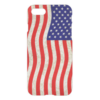 Flag of the United States of America - grungy iPhone 7 Case