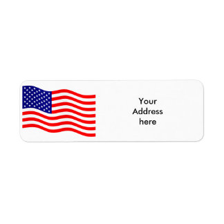 Flag of the United States of America - your ideas Return Address Label
