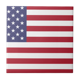 Flag of the United States Small Square Tile
